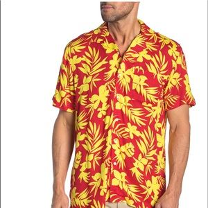 Onia Vacation Shirt Flame Men's Button Down Small